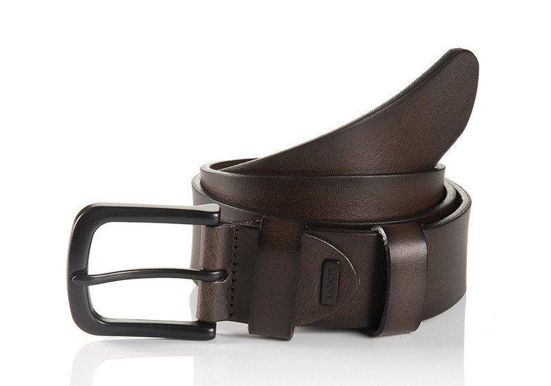 DALLAS 06 313-0001-6000 CHOCOLATE BROWN FASHION CASUAL BELT,BELT,GEORG ROTH, | GentRow.com