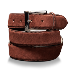 Belt in Velour Espresso