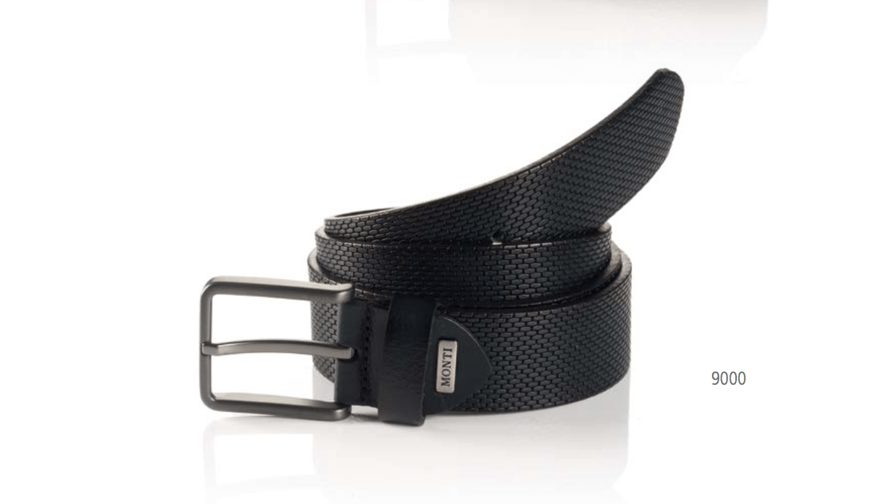 DENVER-06313-0011-9000-FULL-GRAIN-BLACK-LEATHER-EMBOSSED-BELT,BELT,GEORG ROTH, | GentRow.com