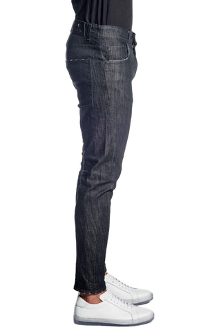 Black Skinny Denim Jeans for Men JN-828