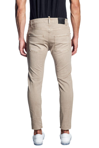 Beige Skinny Denim Jeans for Men JN-872