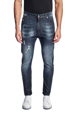Blue Skinny Washed Denim Jeans for Men JN-220