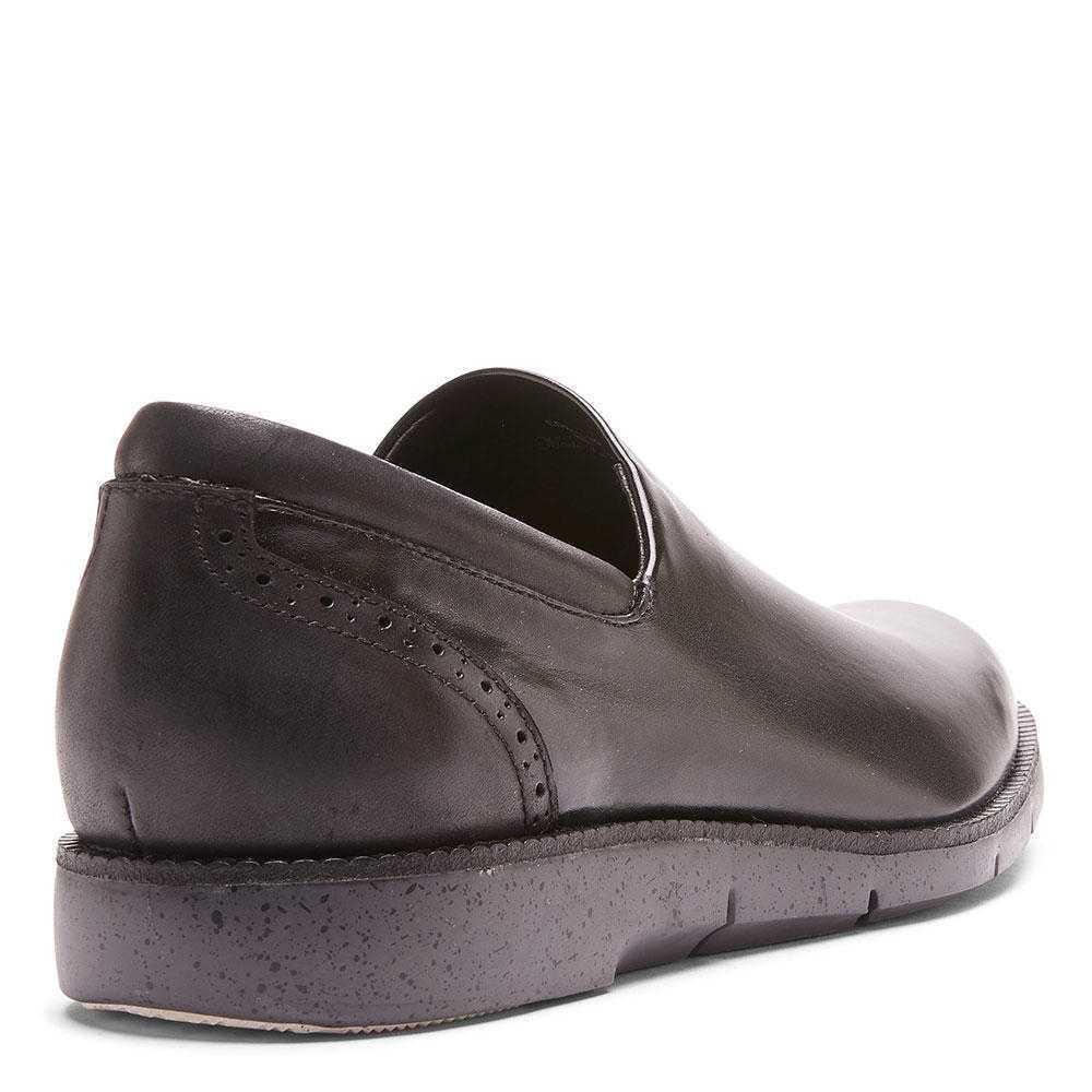 EDELL Nappa Stretch and Burnished Calf Leather Loafer