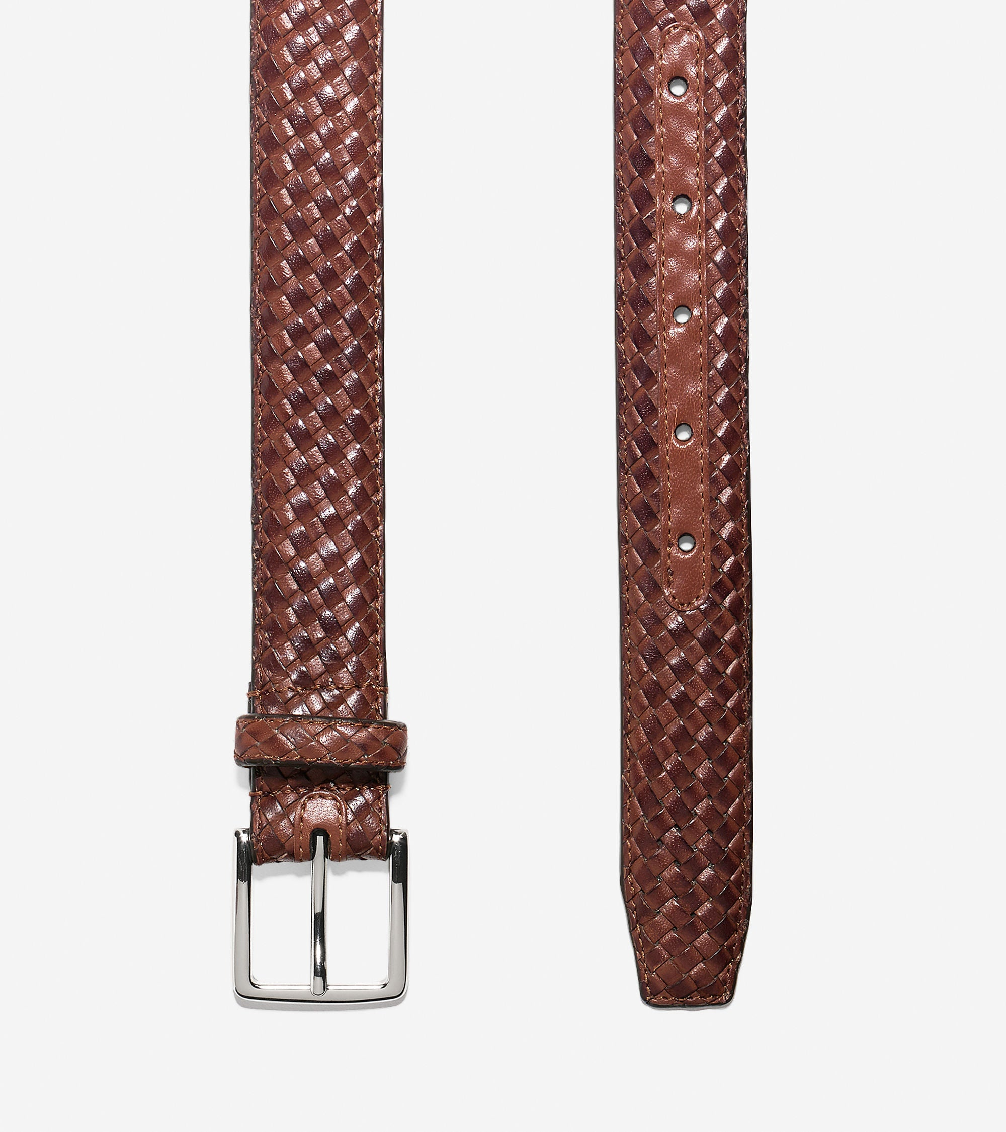 30mm Feather Edge Woven Belt,BELT,Cole Haan, | GentRow.com