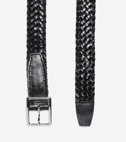 32mm Tubular Woven Leather Belt