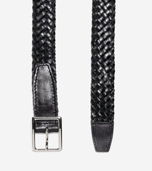 32mm Tubular Woven Leather Belt,BELT,Cole Haan, | GentRow.com