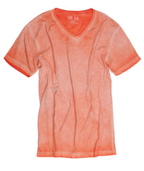 GRLA-V-2009-Orange-Short-Sleeves-Vintage Washed-T-Shirt,T SHIRT,GEORG ROTH, | GentRow.com