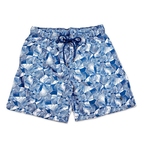Palm Print Quick Dry Swim Shorts