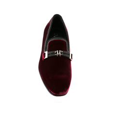 Lusso - Burgundy and Black Stingray,SHOES,Mark Chris, | GentRow.com