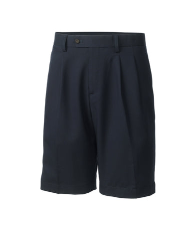 Big & Tall Twill Microfiber Pleated Short
