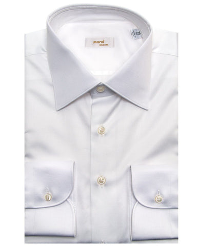 Marol Solid White Dress Shirt