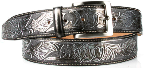 Belt: Metal Chromed Italian Calf Belt