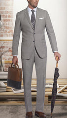 Slim Fit Tan Sharkskin Suit,SUITS,Gent Row, | GentRow.com