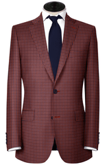 Super 130's Red & Blue Check,SPORT COATS,Gent Row, | GentRow.com