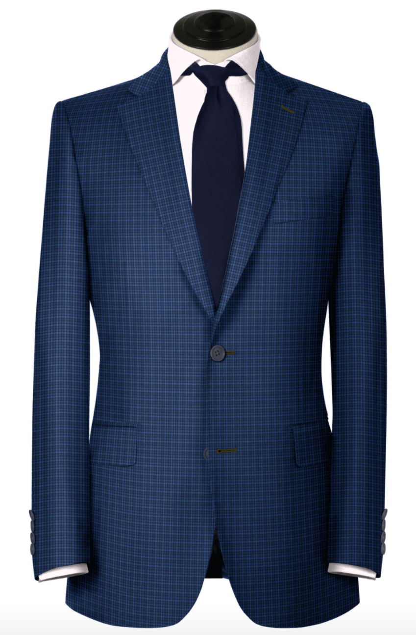 Blue Check Light Weight Wool,SPORT COATS,Gent Row, | GentRow.com