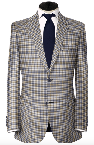 Brown, Blue & Tan Check Sport Coat