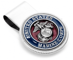 ENAMEL MARINE CORP MONEY CLIP,MONEY CLIP,GentRow.com, | GentRow.com