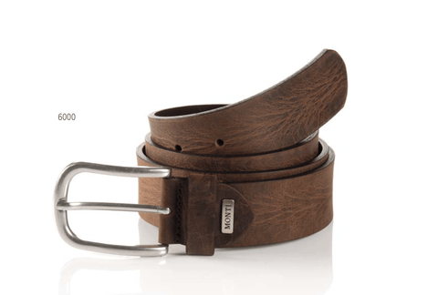AUSTIN-06313-0012-6000-BROWN-LEATHER BELT-MEN'S