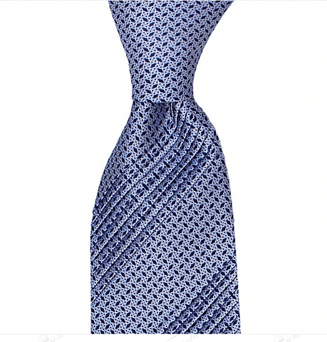 EIGHT PLEAT MICRO DESIGN SILK TIE 8,5CM