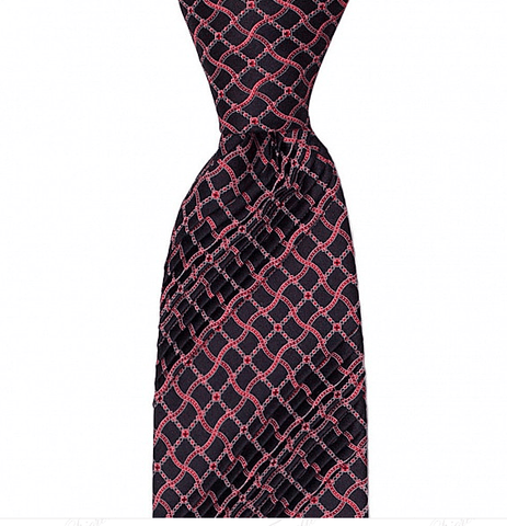 EIGHT PLEAT CLASSIC HAND PRINTED SILK TIE 8,5CM