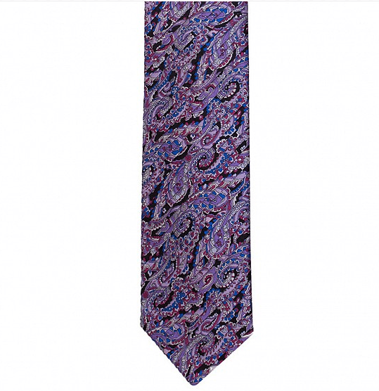 FULL PLEAT PAISLEY SILK TIE 8,5CM,TIE,Silvio Fiorello, | GentRow.com