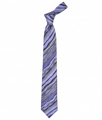 PRINTED STRIPES SILK TIE 8.5CM,TIE,SILVIO FIORELLO, | GentRow.com