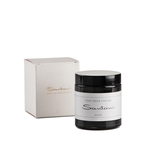 Black shoe cream,Shoe Care,SANTONI, | GentRow.com