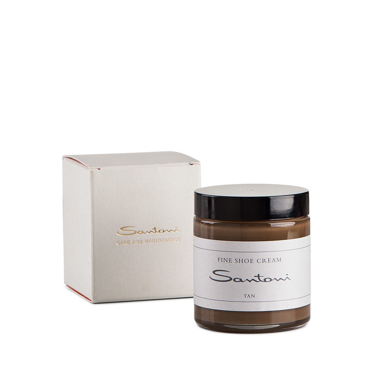 Tan shoe cream,Shoe Care,SANTONI, | GentRow.com