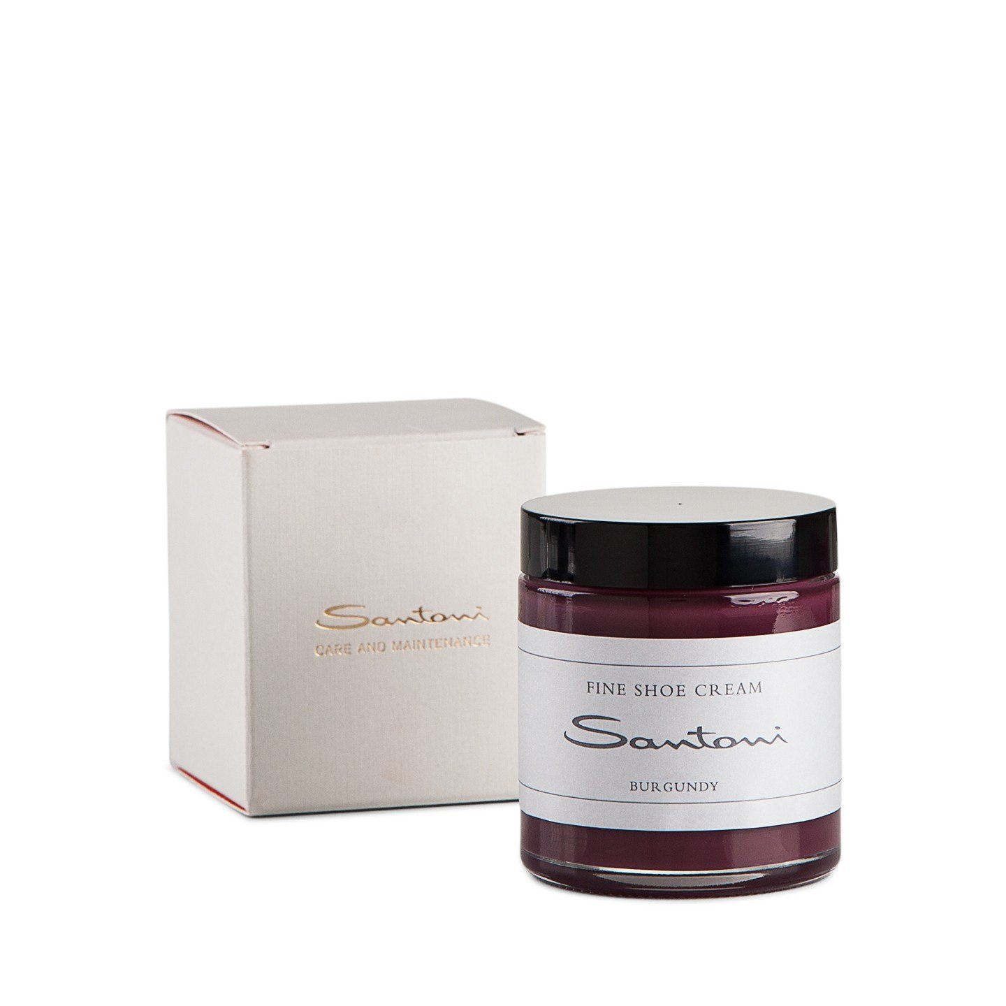 Burgundy shoe cream,Shoe Care,SANTONI, | GentRow.com