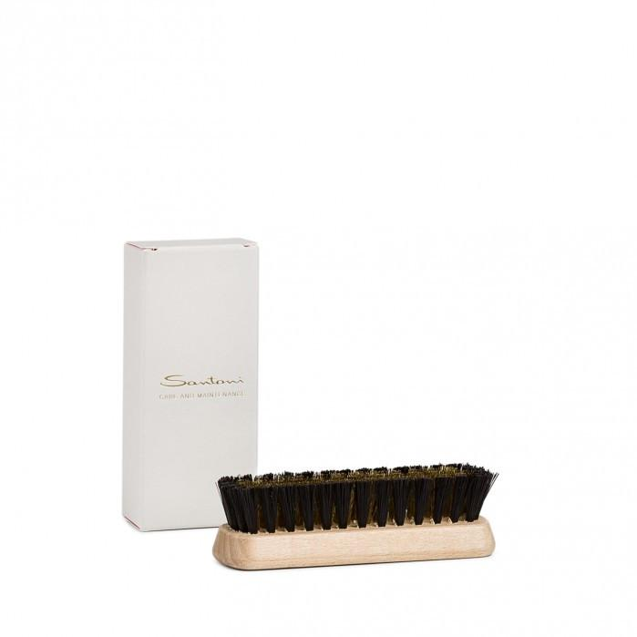 Nylon and brass small brush,Shoe Care,SANTONI, | GentRow.com