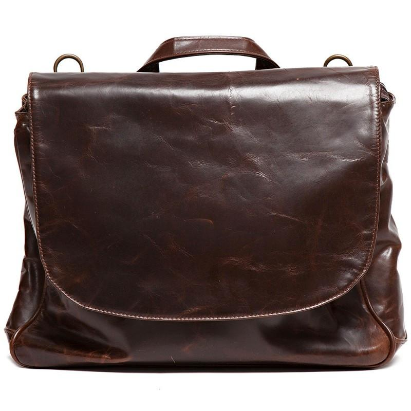 Wynn Mail Bag in Brompton Brown,BAGS,GentRow.com, | GentRow.com