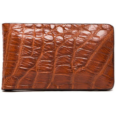Tan Alligator Money Clip,MONEY CLIP,GentRow.com, | GentRow.com