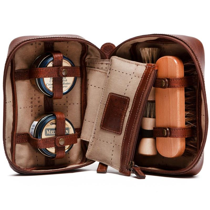 Copy of Griffin Shoe Shine Kit in Titan Milled Brown,Shoe Care,GentRow.com, | GentRow.com