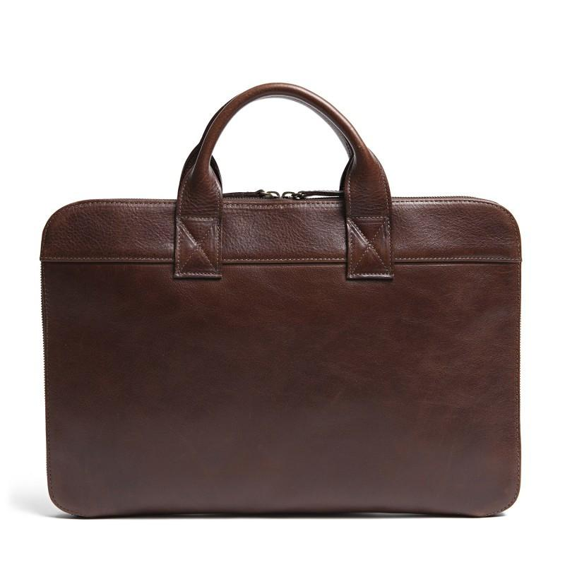 Frances Slim Portfolio in Titan Milled Brown,BAGS,GentRow.com, | GentRow.com