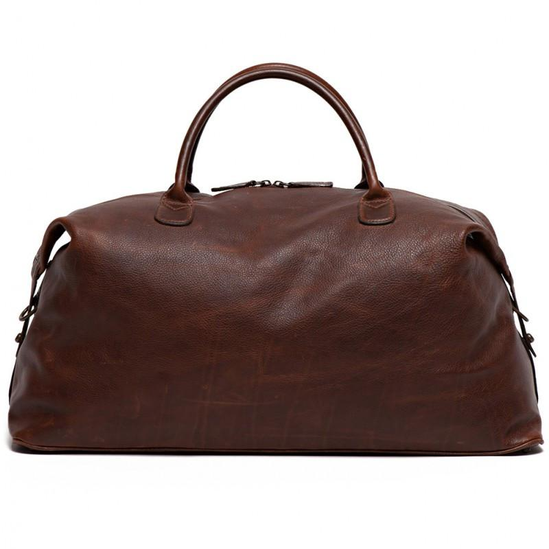 Benedict Weekend Bag in Titan Milled Brown,BAGS,GentRow.com, | GentRow.com