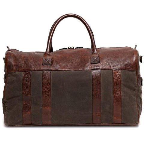 Cleland XL Duffel in Waxwear Rangertan & Titan Milled Brown
