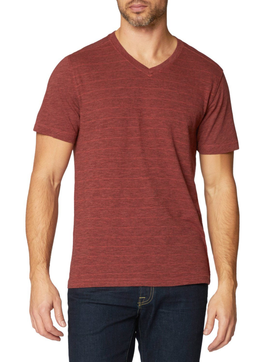 Hal Short Sleeve Vee,TEES,AGAVE, | GentRow.com