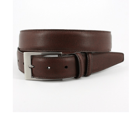 Soft Deertan Glove Leather Belt - Chestnut,BELT,Gent Row, | GentRow.com