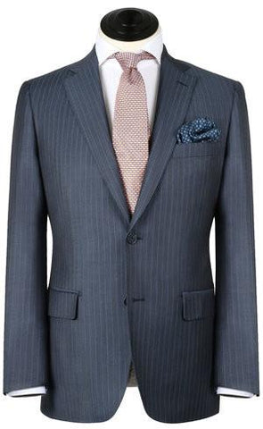 Gent Row Chalk Pin Stripe Suit