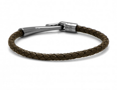 CHEWER WOVEN CHOCOLATE BROWN LEATHER BRACELET,BRACELET,CUFFLINKS, | GentRow.com
