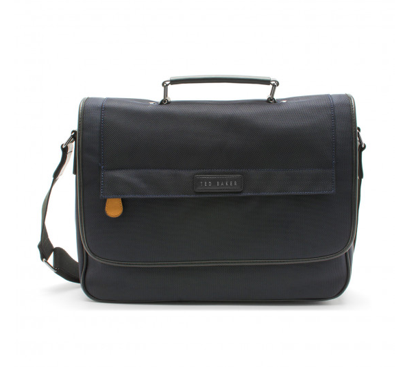 TURNS NAVY MESSENGER BAG,BAGS,CUFFLINKS, | GentRow.com