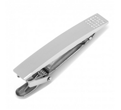 STAINLESS STEEL WHITE PAVE CRYSTAL ENGRAVABLE TIE CLIP,TIE CLIP,CUFFLINKS, | GentRow.com