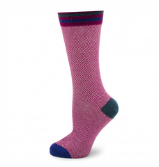 MOYE CHECKED PINK SOCKS,socks,CUFFLINKS, | GentRow.com