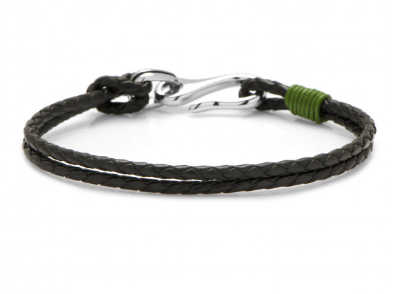 TWIRL GREEN LEATHER BRACELET,BRACELET,CUFFLINKS, | GentRow.com