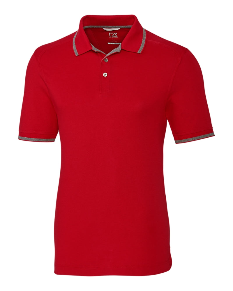 Advantage Tipped Polo,POLOS,Cutter Buck, | GentRow.com