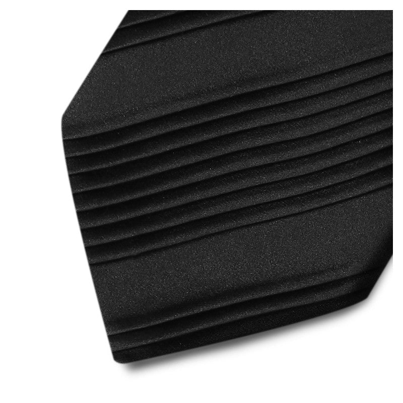 Alternate pleated black silk tie 18007-12 Mod. B009
