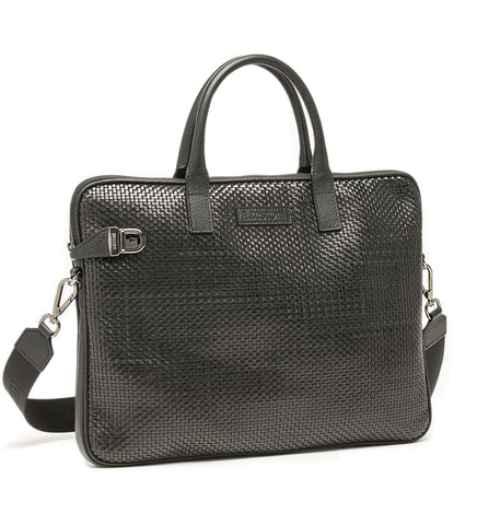 BRIEFCASE IN WOVEN LEATHER