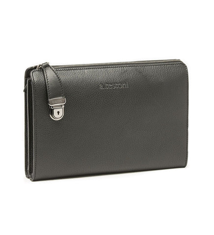 DOCUMENT CASE IN EMBOSSED LEATHER.