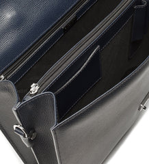 BRIEFCASE IN LEATHER,BRIEFCASE,A.TESTONI, | GentRow.com