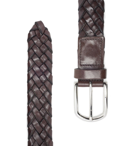BELT IN WOVEN LEATHER